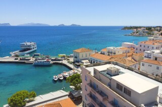spetses hotel roumani in spetses greece